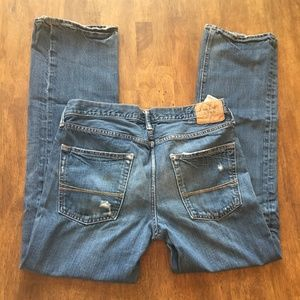 Abercrombie denim jeans 33x32 button fly straight